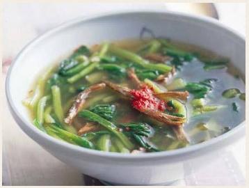 煮干しの青菜スープ
