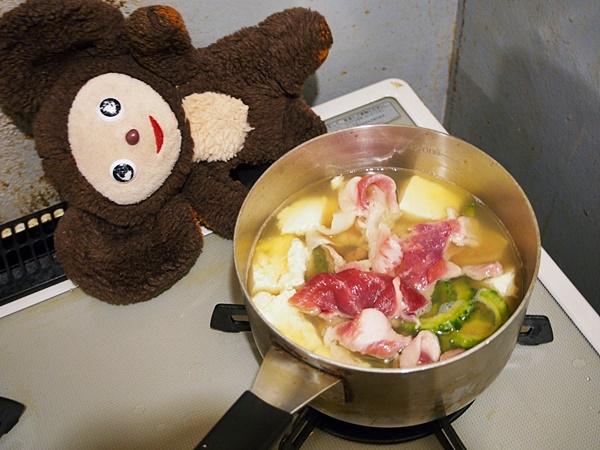 ゴーヤの豚汁 作り方
