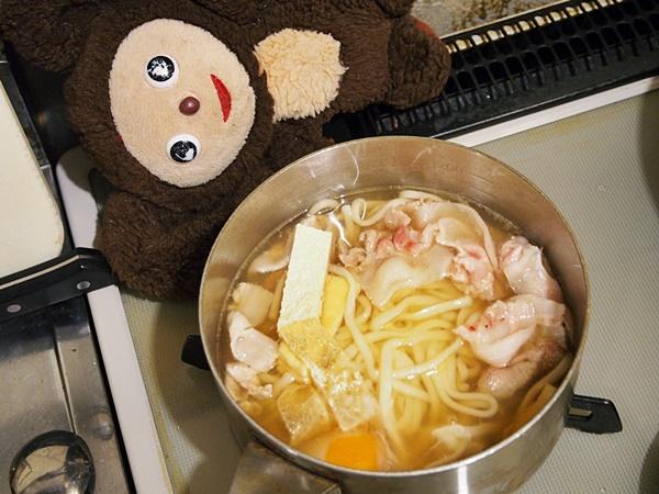 豚肉とわかめの味噌うどん 作り方