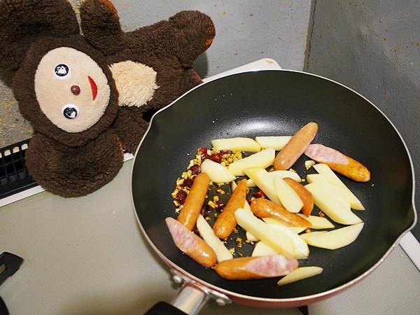 あさりとジャガイモの和風ペペロン 作り方