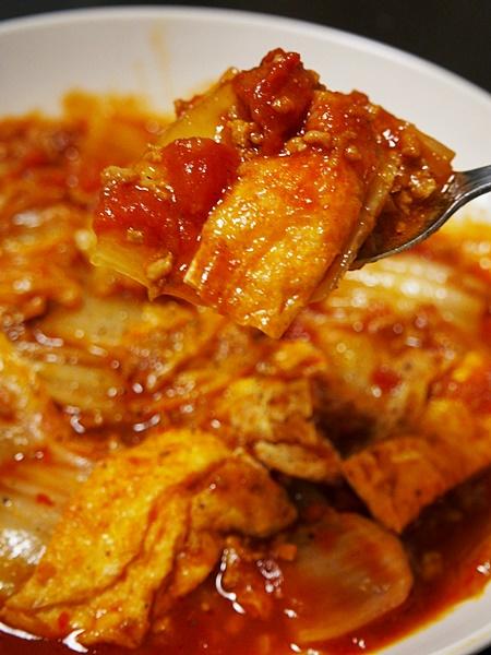 白菜の和風ミートソース煮
