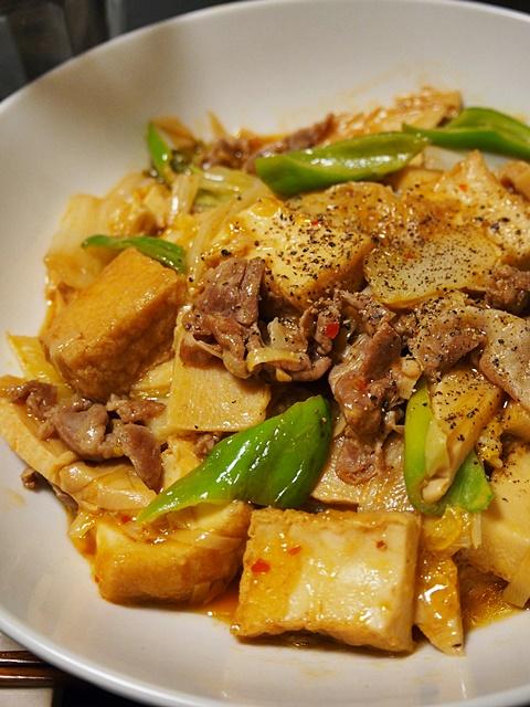 豚肉と厚揚げ・白菜のコッテリクッタリ煮