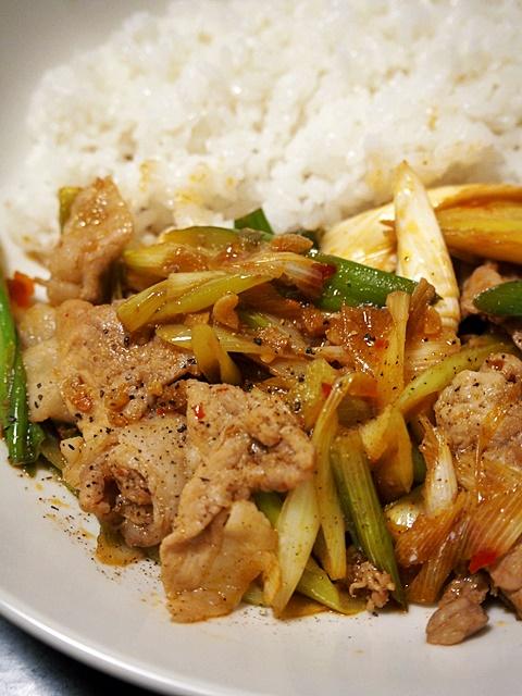 豚肉とねぎのガッツリ焼きライス