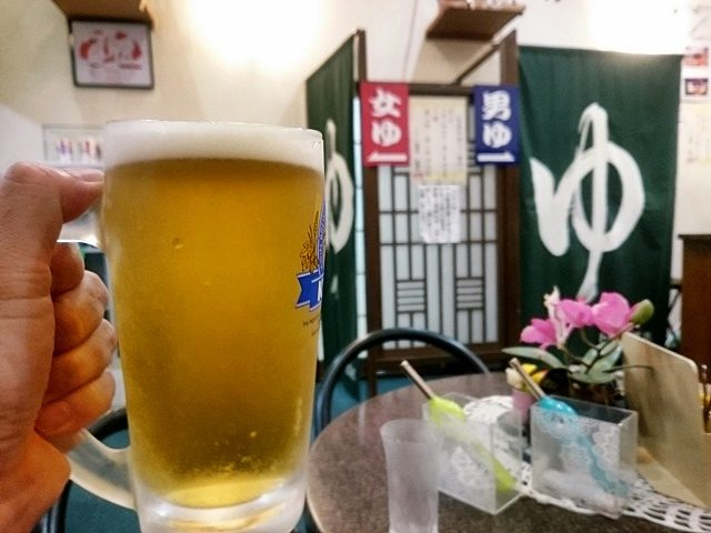 風呂あがりのビール