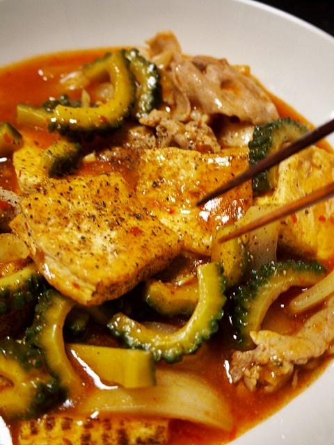 ゴーヤの家常豆腐