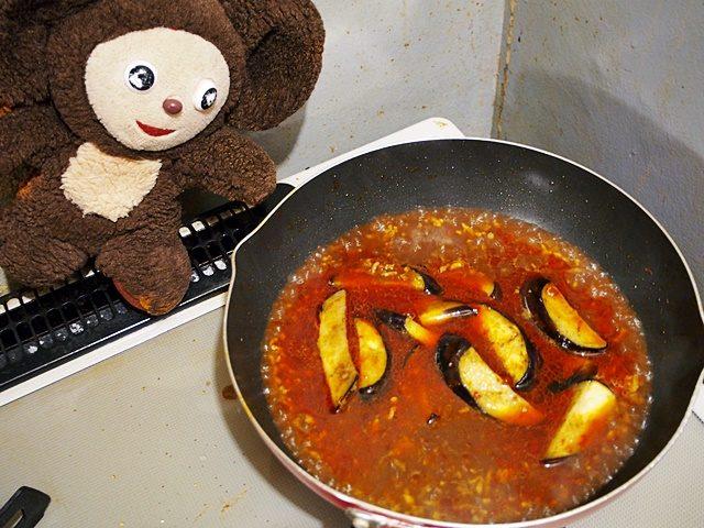 トマト入りの麻婆ナス 作り方