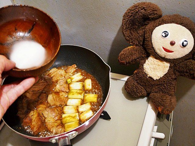 豚肉とネギのてり焼き 作り方