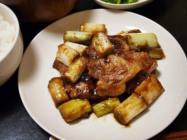 豚肉とネギのてり焼き