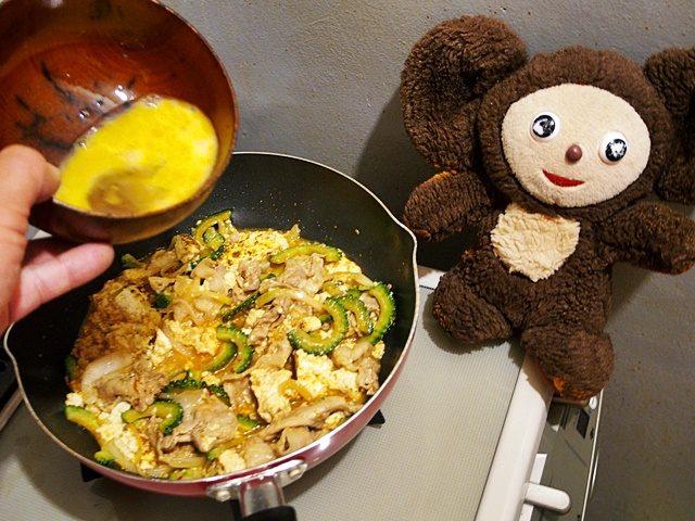 中華っぽいしょうゆ味のゴーヤチャンプルー 作り方