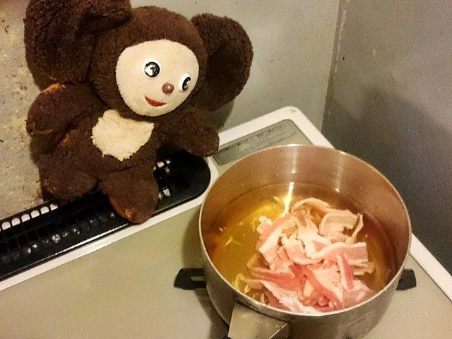 アサリと豚肉のニンニク入りすまし汁 作り方