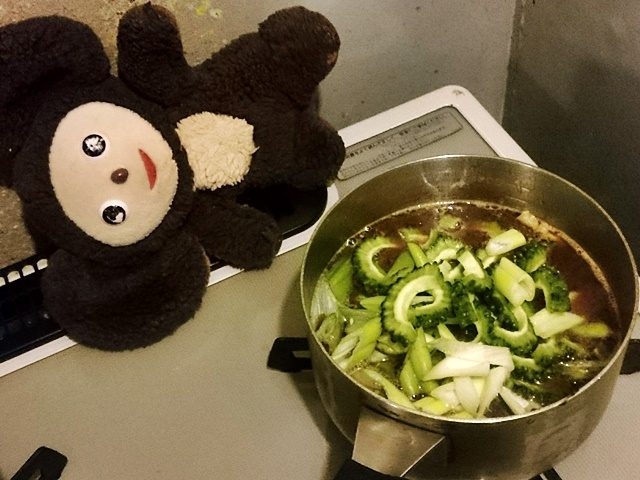 ゴーヤーの豚汁 作り方