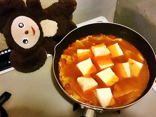 豚肉と豆腐のキムチ汁 作り方