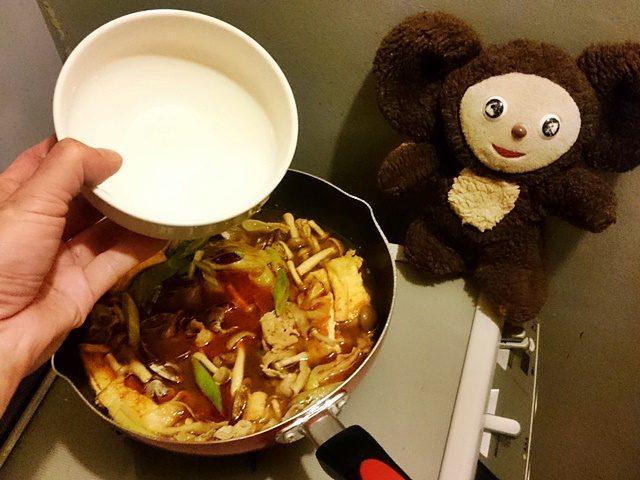 アサリと豚肉の酸辣にゅうめん 作り方