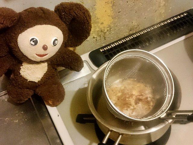 水菜と豚肉のにゅうめん 作り方