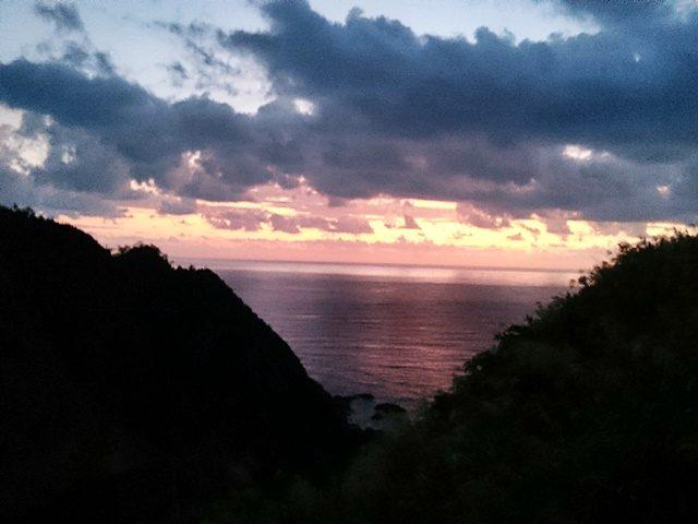 高江の海と山