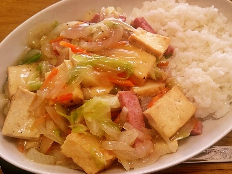 野菜チャンプルー丼