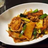鶏肉とたっぷり野菜のキムチ味噌焼き